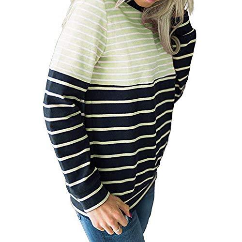 a Magliette Maniche con Eleganti Corte Donna e Felpa CICIYONER Camicetta Verde Pullover xp1Yqwnd