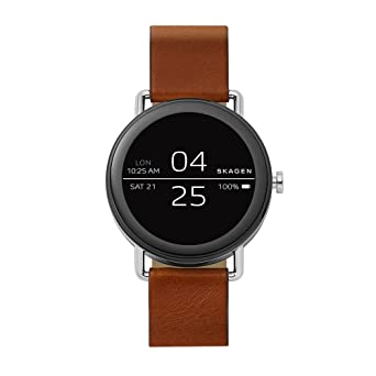 Amazon.com: Skagen Falster Smartwatch de piel café, talla ...