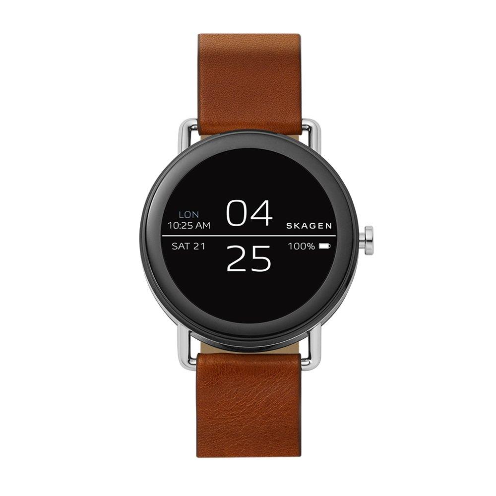 Skagen Reloj Digital para Unisex de Cuarzo con Correa en Cuero SKT5003