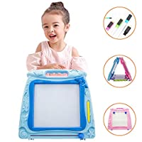 LBLA Portable Multi-Colors Magnetic Doodle Drawing Board Toy for Kids Toddlers 6-8 Learning, Double Sides Colorful Doodles Sketch Erasable Pad, Painting Learning Birthday Gift Present
