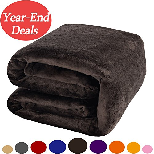 Shilucheng Luxury Fleece Blanket Super Soft Warm Fuzzy Lightweight Bed Blankets(Twin, Coffee) (Extra Thick Throw Blanket compare prices)