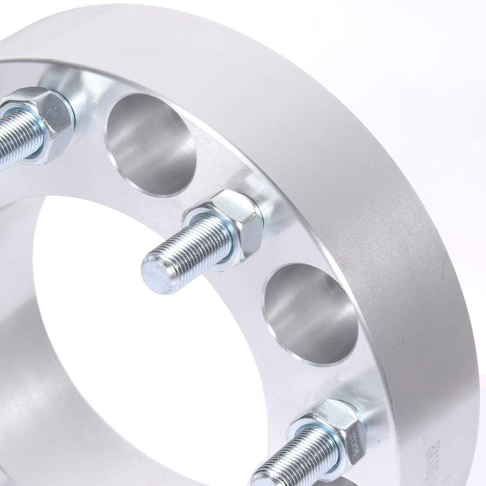 TUPARTS 8 Lug Wheel spacers 2 8x180 to 8x180 14x1.5 125mm fits for 2011-2015 Chevrolet Silverado 2500 HD
