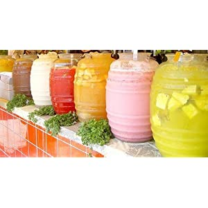 Vitrolero Plastic Aguas Frescas 5 Gallon Water Container For Party Chose Your Favorite Color (White)