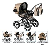 Roan Rocco Classic Pram Stroller 2-in-1 with Bassinet and Seat Unit - Multiple Colors