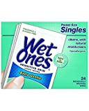 Wet Ones Singles Sensitive Skin Individually Wrapped Hand Moist Wipes -24ct (pack of 3)