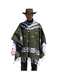 Straightline Clint Eastwood Style Spaghetti Western Cowboy Olive Green Poncho Movie Prop - Great