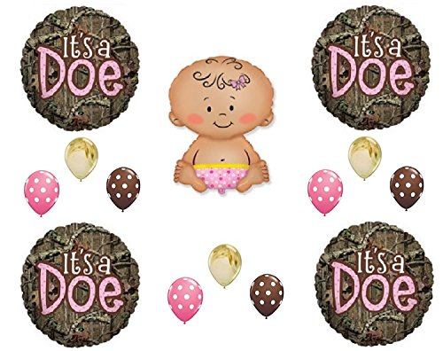IT'S A DOE CAMOUFLAGE BABY GIRL SHOWER Balloons Decoration Supplies Mossy Oak by Anagram