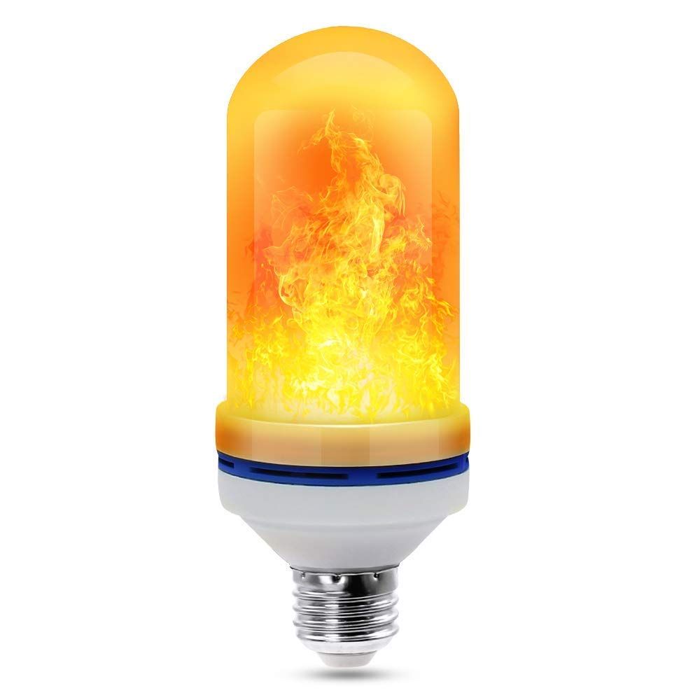 CCJK Flickering Flame Light Bulb, Vintage E26 2835 LED Simulated Flaming Effect Emulational Nature Flicker Lamp Lantern for Home Bars Hotel Party Festival Holiday Atmosphere Decoration