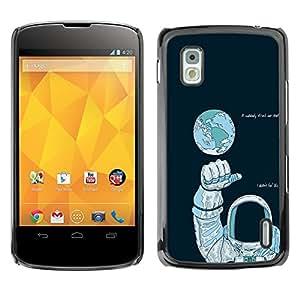 EJOY---Cubierta de la caja de protección la piel dura para el / LG Nexus 4 E960 / --Astronauta Espacio