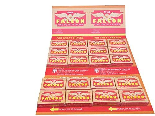 Treet Falcon Double Edge Safety Razor Blades, 200 blades (20x10)