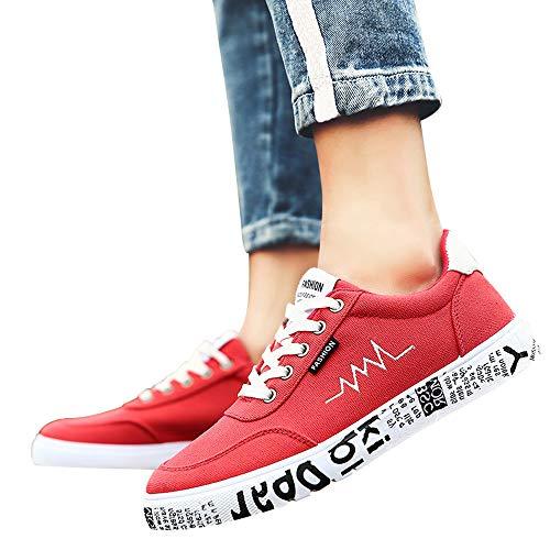 Da Casual Styledresser Lace Da Rosso Up Tela Scarpe Uomo Sport In Da All'Aperto Uomo Comodi Scarpe Corsa qwvqFxBrz6