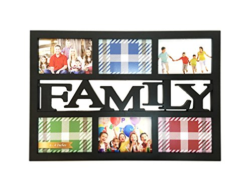 bestbuy frames family 3d style wall hanging collage picture frame with 6 openings for 4x6 inch