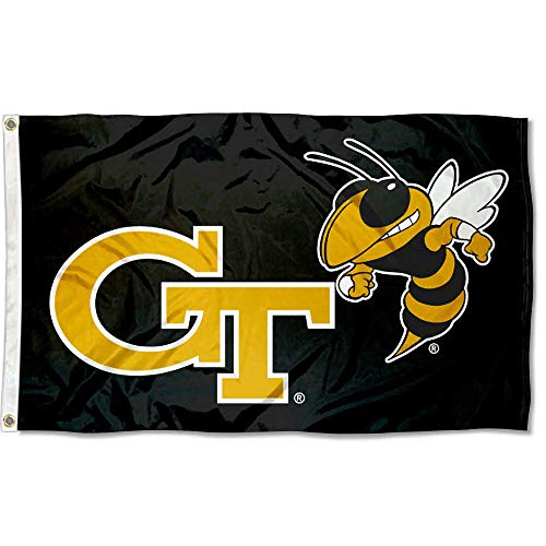 College Flags and Banners Co. Georgia Tech Yellow Jackets Black Flag