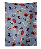 "Caroline's Treasures BB4105KTWL Dog House Manchester Terrier Kitchen Towel, 25"" x 15"", Multicolor"