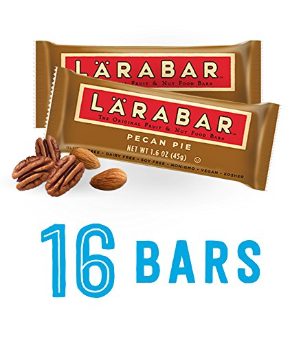 LARABAR, Fruit & Nut Bar, Pecan Pie, Gluten Free, Vegan, Whole 30 Compliant, 1.6 oz Bars (16 Count)