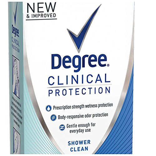 Degree Women Clinical Protection Anti-Perspirant Deodorant Shower Clean 1.70 oz (Pack of 3) by Degree (Image #2)