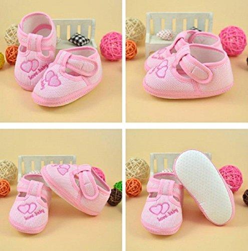Recién Único Del La Historieta Auxma Deporte Rosa Pesebre Lona Bebé Zapatilla Suavemente Zapatos De Nacido Niño t8tqUzA