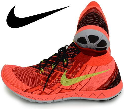 b7558c0bd3e50 Nike Free 3.0 Flyknit Men Round Toe Synthetic Running Shoe
