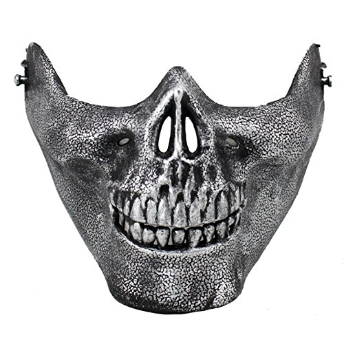 Halloween Skull Skeleton Mask - Half Face Protect Mask Protective Skull Skeleton for Halloween, CS, Costume Party, Airsoft, Paintball, Hunting By Kolodo (Halloween Half Mask Face Paint)