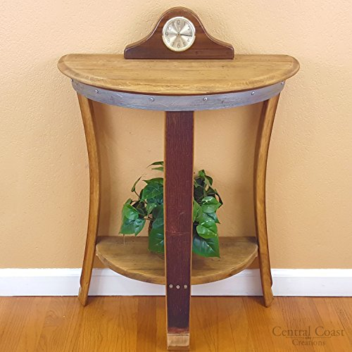 Half Moon Wall Table - Wine Barrel Handcrafted - Central Coast Creations - Wine Barrel Furniture