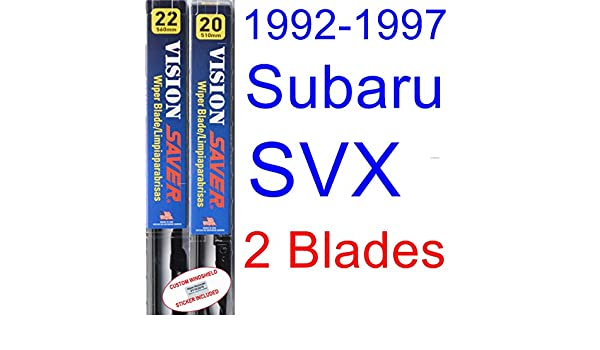 Amazon.com: 1992-1997 Subaru SVX Replacement Wiper Blade Set/Kit (Set of 2 Blades) (Saver Automotive Products-Vision Saver) (1993,1994,1995,1996): ...