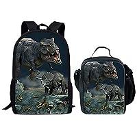 HUGS IDEA Cool 3D Animals Children School Book Bag Kids Printing Backpacks