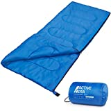 Premium 200 Warm Lightweight Envelope Sleeping Bag - For Traveling, Camping, Hiking, Indoor & Outdoor Activities