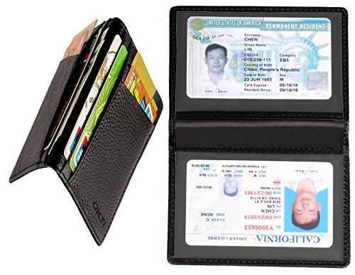 Id Wear Line (Slim Wallet, Front Pocket Wallet, Minimalist Wallet, Slim Mens Wallet, Genuine Leather Slim Mens Wallet Money Clip, Credit Card Holder ID Card Driver's License Safe)