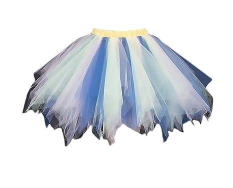 Faldas Mujer Falda Tul Tutu Mini Falda Niñas Ropa Ballet Princesas ...