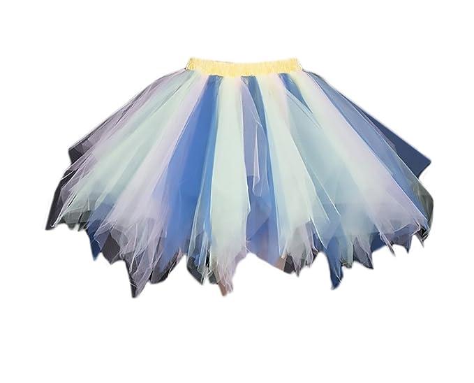 Lannister Fashion Faldas Mujer Falda Tul Tutu Mini Falda Ballet ...