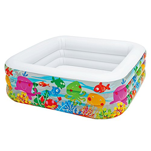 Kids Inflatable Swimming Pool (Intex Swim Center Clearview Aquarium Inflatable Pool, 62.5