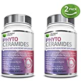 2 Bottle Bundle - Save an Extra 10% - Advanced Hair Skin & Nails Plant Based Phytoceramides 30 Veggie Capsules Vitamins A, C, D3, & E plus Biotin & Bamboo Silica for Healthy, Youthful Skin & Hair offers