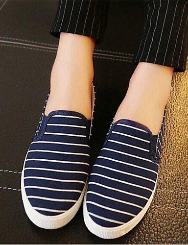 Zq Eu40 plataforma Casual Cn41 mocasines negro Azul White creepers Uk7 De Laboral Mujer us9 tela exterior Zapatos Gyht Blanco r1xCaqr