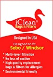 Sebo/windsor Upright Vacuum Cleaner Bags by iClean Vacuums (10 Bags)