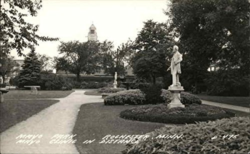 mayo-park-with-mayo-clinic-in-disstance-rochester-minnesota-original-vintage-postcard