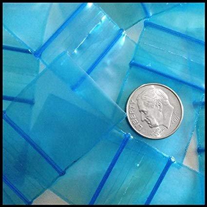1 Ounce Apple - 1010 Apple Mini Ziplock 100 Baggies Blue Color Colored 100 Bags 1