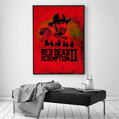 SPBN Red Dead Redemption 2 Video Game Wall Art Canvas Painting Poster for Home Decor Posters and Prints Unframed Decorative ()
