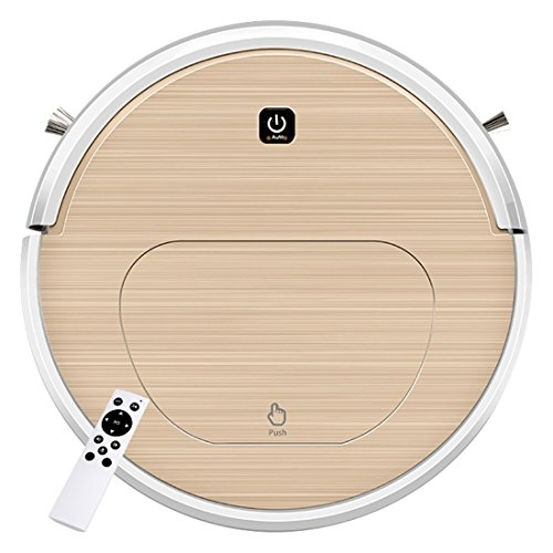 FENGRUI FR-6S Robot Vacuum Cleaner and Mop Powerful Suction Remote Control HEPA Filter for Pets Dog Hair Hardwood Floor Surfaces Home Gold by FENGRUI (Image #1)