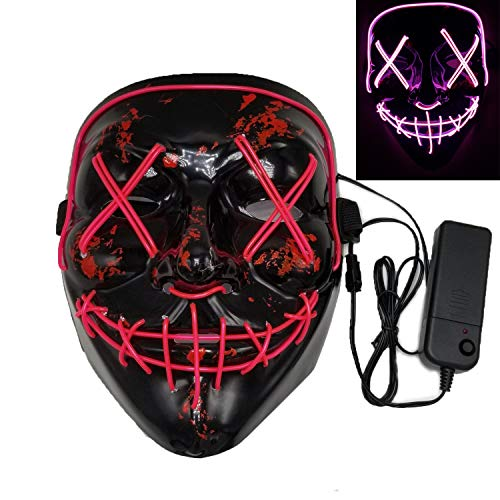 (Jundong Halloween Mask-Frightening LED Light up Mask-Festival Cosplay Party Costume)