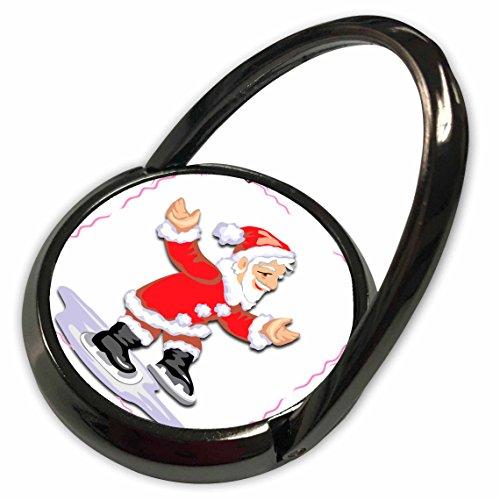 3dRose Edmond Hogge Jr Christmas - Ice Skating Santa Claus - Phone Ring (Ice Skating Santa)