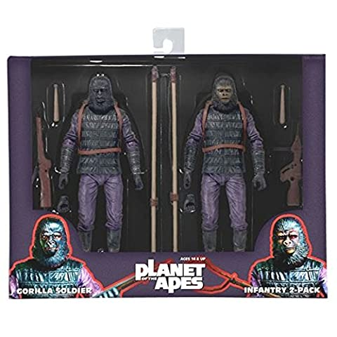 Planet of the Apes / 7 Inch Action Figure Classic Series: Gorilla Soldier Infantry 2PK [Japan genuine] by (Planet Of Apes 2 Pack)