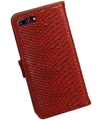 MobileFashion Serpent Book Cases pour Iphone 7 plus Portefeuille Case Cover Booktype avec Slots pour cartes et support