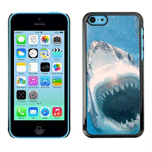 Omega Case PC Polycarbonate Cas Coque Drapeau - Apple iPhone 5C ( Cool Killer White Shark Attack )