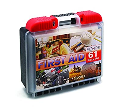 Medique 40061 First Aid Kit, 61-Piece (Pack of 2) from Medique