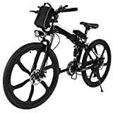 26″ Pro Folding Speed Electric Power Mountain Bicycle with Large Lithium-Ion Battery (US STOCK) (Black) For Sale