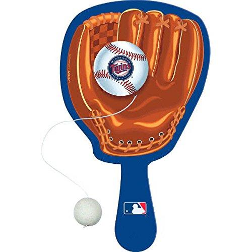 Party Favor Detroit Tigers Major League Baseball Collection Paddle Balls 394765 TradeMart Inc 24 Ct