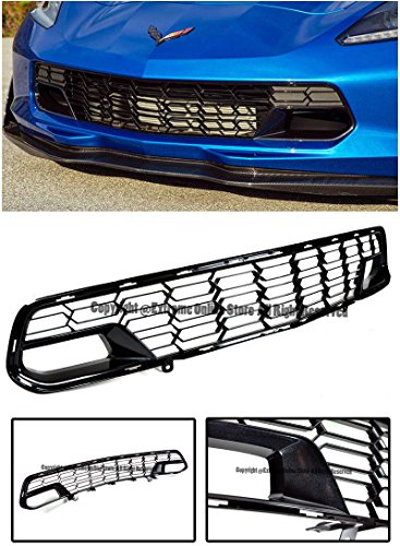 Gm Factory Z06 Painted Carbon Flash Metallic Front Bumper Lower Grille Guard Cover For 14-Up Chevrolet Corvette C7 No Camera Models 2014 2015 2016 2017 14 15 16 17