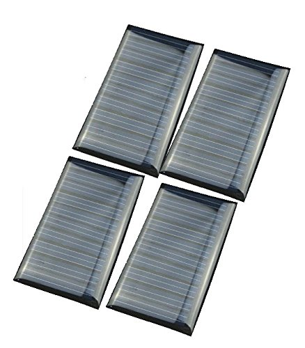 51cX5DPISxL - 4 PCS -5V 30mA 53X30mm Micro Mini Power Solar Cells For Solar Panels - DIY Projects - Toys - 3.6v Battery Charger