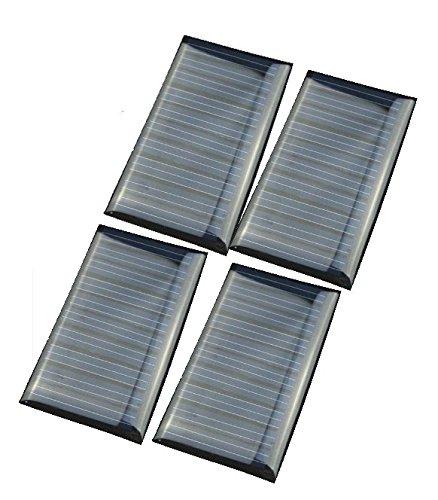 51cX5DPISxL - 4 PCS -5V 30mA 53X30mm Micro Mini Power Solar Cells For Solar Panels - DIY Projects - Toys - 3.6v Battery Charger