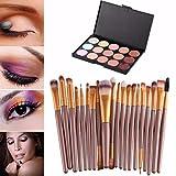 Toraway Pro 15 Colors Makeup Concealer Contour Palette +20 Pcs Makeup Brushes kit